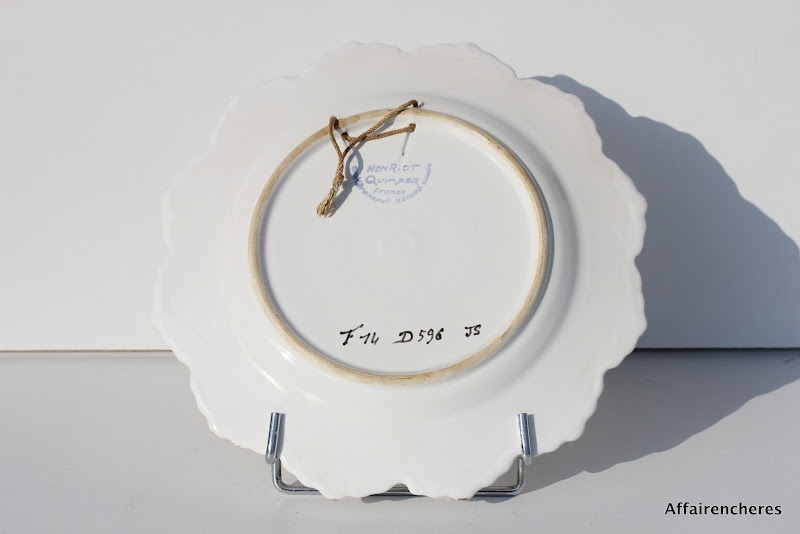 assiette moderne en faience de quimper manufacture henriot d 26 cm ebay. Black Bedroom Furniture Sets. Home Design Ideas