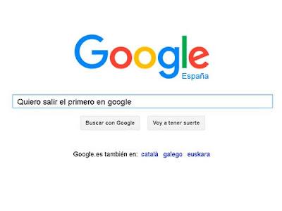 Salir el primero en Google