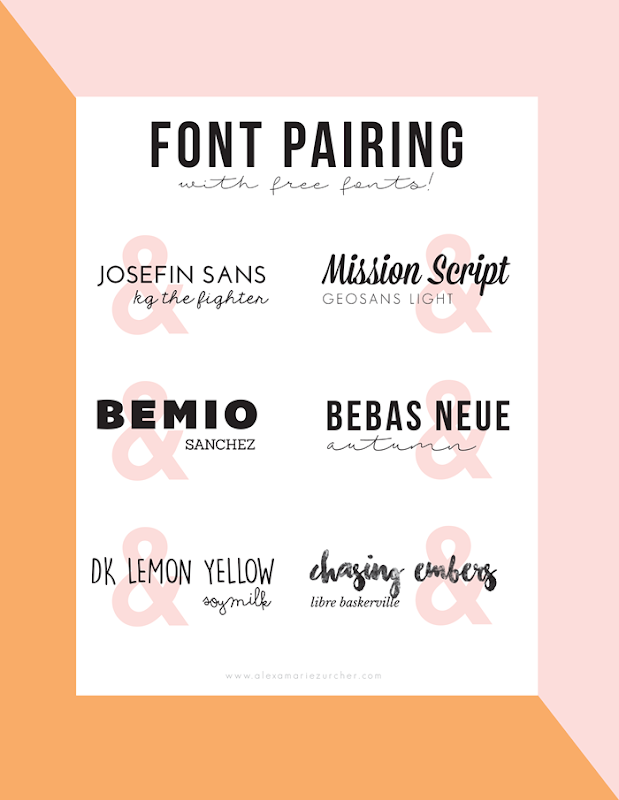 font pairing with free fonts
