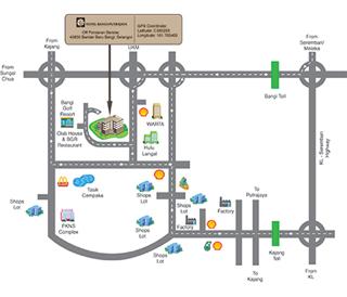 peta ke hotel bangi