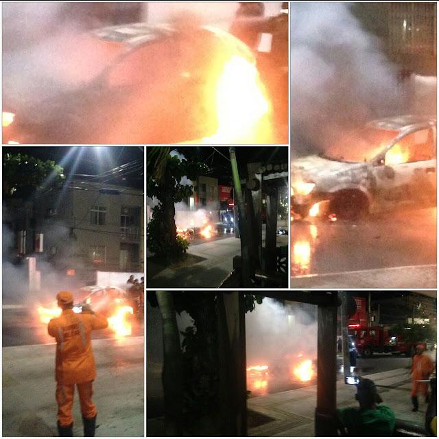 Carro pega fogo na João Gomes