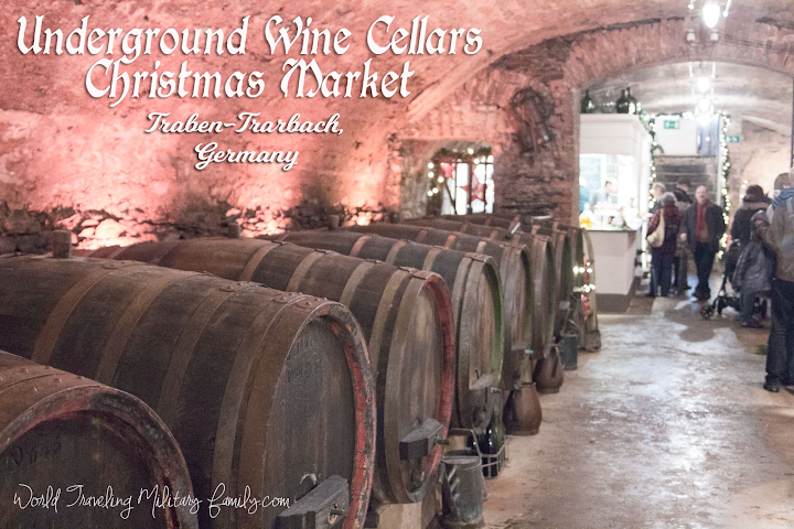 If your looking for a unique market check out the Underground Wine Cellars Christmas Market in Traben-Trarbach, Germany! Close to Spangdahlem & Ramstein.