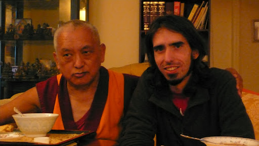 Lama Zopa Rinpoche and Osel in Madison, WI USA