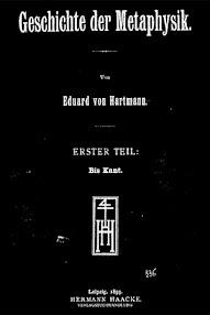 Cover of Eduard von Hartmann's Book Geschichte der Metaphysik (1899,in German)
