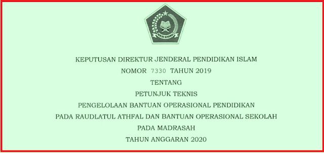 Juknis BOS MI MTS MA MAK (Madrasah) Tahun 2020/2021