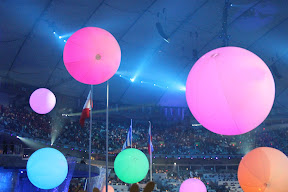 Bouncy balls at the end of the Closing Ceremony
