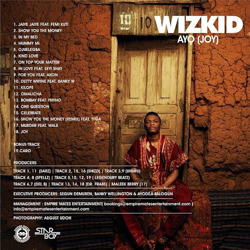 List of Wizkid Songs and Album