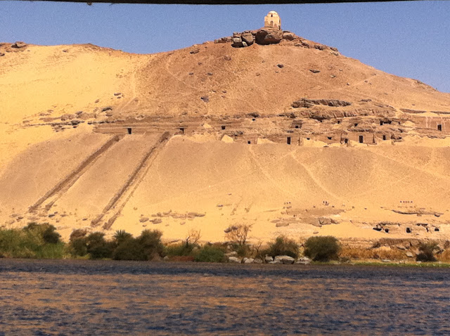 Nile tombs in Aswan