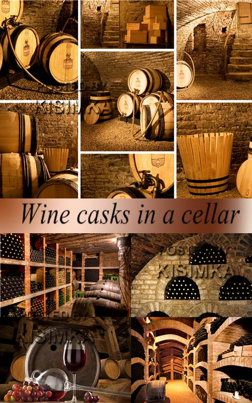 Stock Photo: Wine casks in a cellar