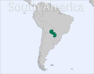 Paraguay location map