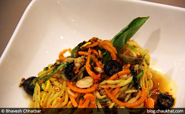 No Carb Spaghetti served at 212 All Day Cafe & Bar at Phoenix Marketcity in Pune
