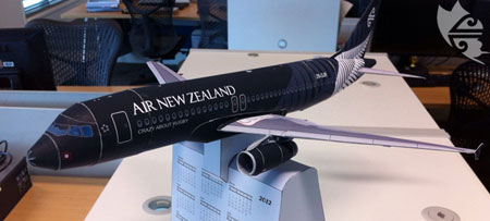 Air New Zealand Airbus A320 Papercraft