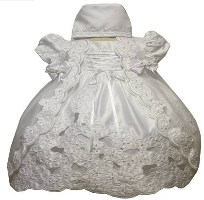Angel Girl Toddler Christening Baptism Dress Gowns outfit/XS/S/M/L/XL/0-3M/3-6M/6-12M/12-18M/18-24M/XSMALL/SMALL/MEDIUM/LARGE/XL/5444 at Sears.com