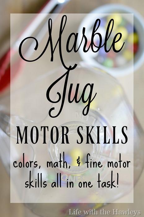 Marble Jug Motor Skills-Life with the Hawleys