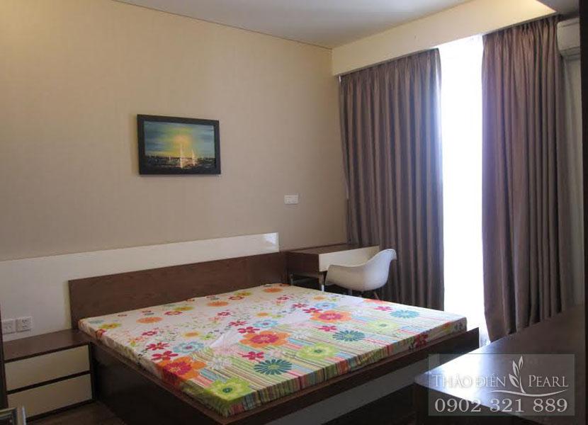 phòng ngủ 1 giá cho thuê căn hộ Thảo Điền Pearl