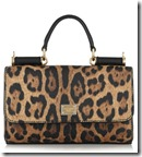 Dolce & Gabbana leopard print textured leather shoulder bag