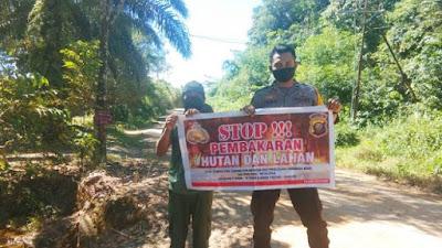 Bhabinkamtibmas Desa Menua Prama Sosialisasikan Pencegahan Karhutla