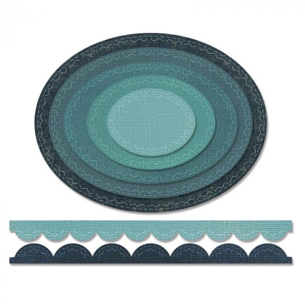 fustella sizzix - ovali - tim holtz-661188