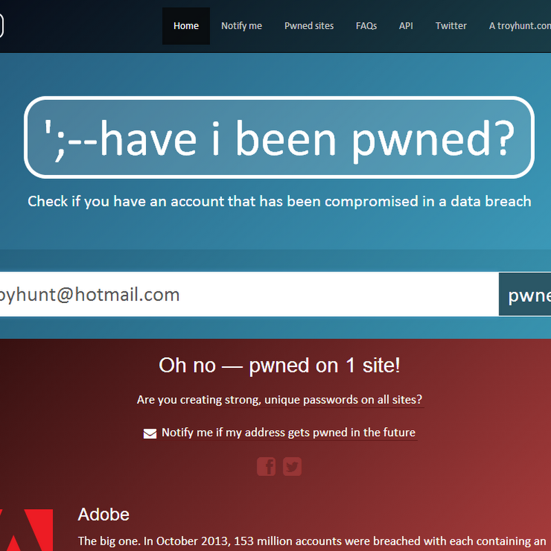 Have you been pwned? Now you can be automatically told when you are!