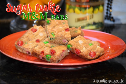 Sugar Cookie M&M Bars