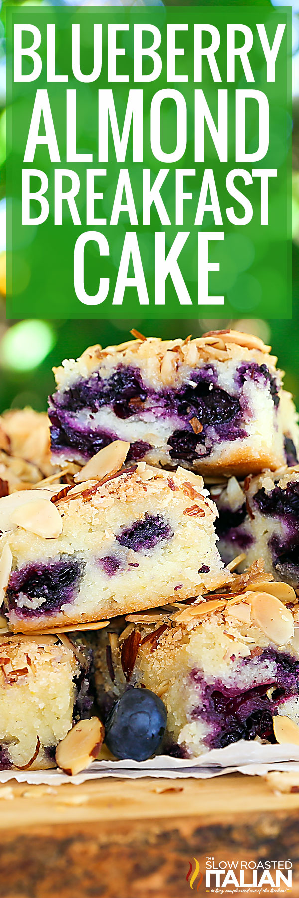 Blueberry Almond Cake closeup
