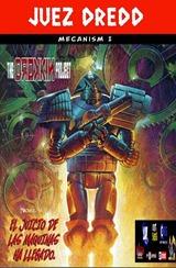 Actualización 28/05/2017: Gracias a la séptuple alianza de HTAL, CRG, Outsiders, Prix, LLSW, Gisicom y AT-Comics, conocida como The Drokkin Project, les traemos Judge Dredd Mecanismo - Parte 1 tradumaquetado por Darkvid y Mastergel.