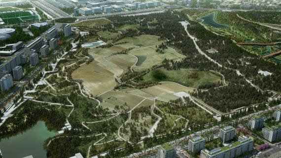 Obras del Parque Central, eje verde de Centralidad y conexión con Aeropuerto de Valdebebas