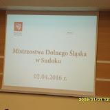 Mistrzostwa Dolnego Śląska w Sudoku 2016