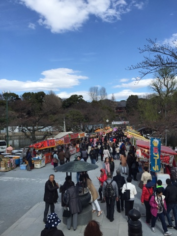 Street food stalls in Ueno Park