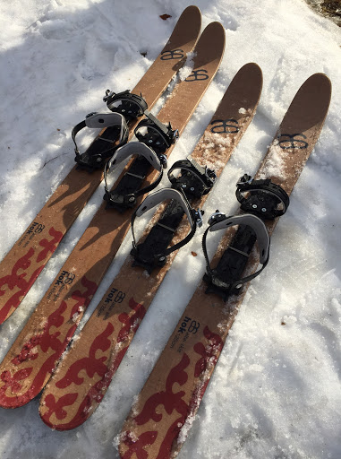 Close up of the HOK skis