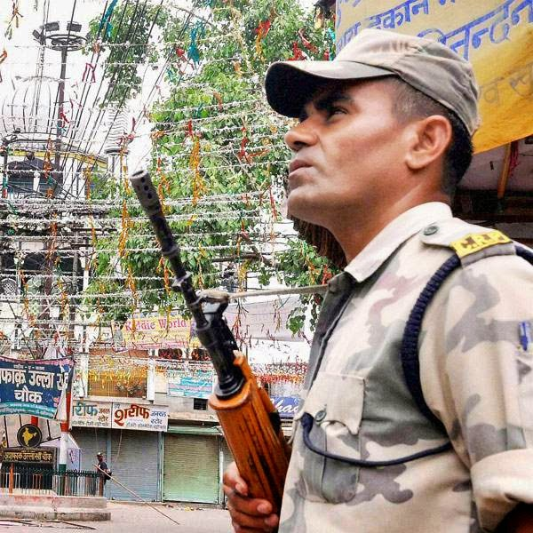 An edgy peace reigned over Saharanpur on Sunday following the arrest of 38 people for the violence in which three people were killed and scores injured.