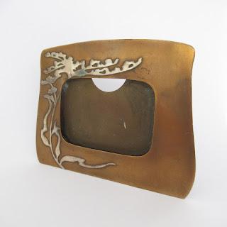 Heintz Art Metal Authentic Arts & Crafts Picture Frame