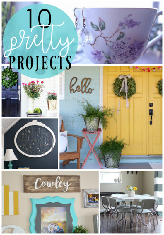 10 Pretty Projects at GingerSnapCrafts.com