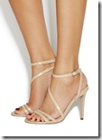 Office nude patent assymetric sandals