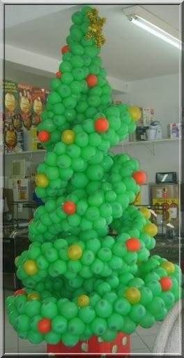 arvore natalina de balões espiral