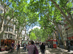 Back on the Ramblas to check in finally