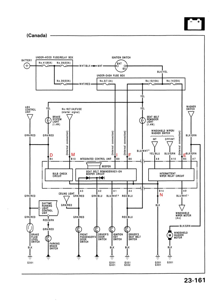 Electrical_USDM_92 95_civic_Page_161 92 95 honda civic electrical wire diagram honda wiring diagrams eg civic radio wiring diagram at n-0.co