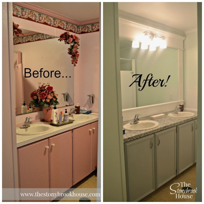 Before & After Ladies Church Bathroom
