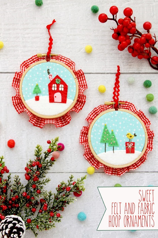 Sweet-Fabric-and-Felt-Hoop-Ornaments