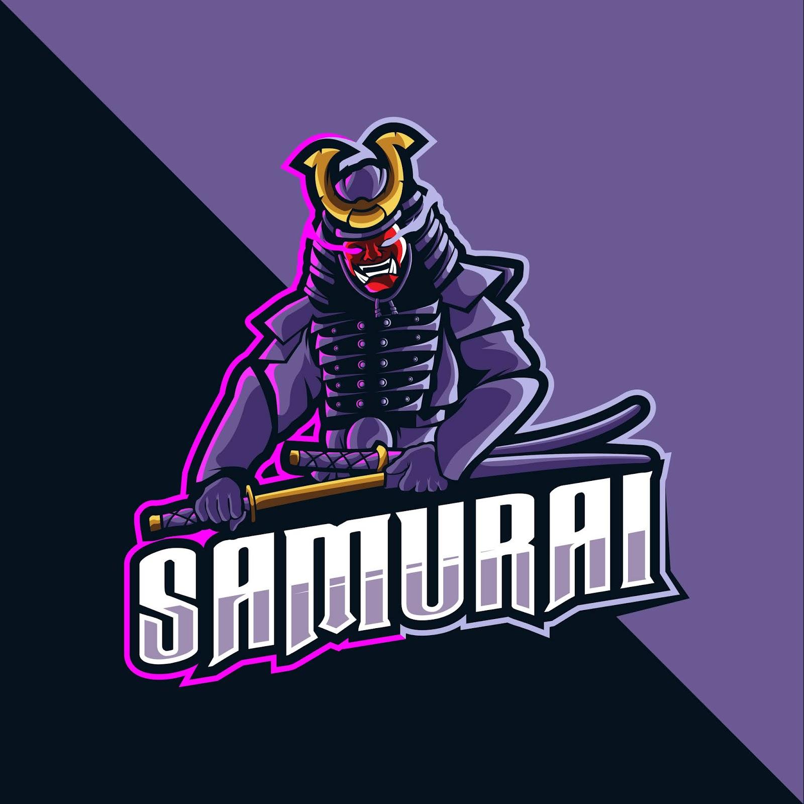 Samurai Mascot Logo Esport Free Download Vector CDR, AI, EPS and PNG Formats