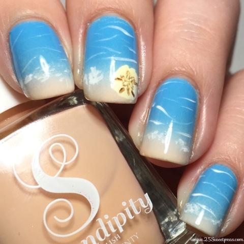 Sand Dollar Beach Nails 25 Sweetpeas