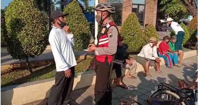 Satuan Sabhara Polres Batang  Giatkan Patroli Sepeda Sebarkan Pesan Kamtibmas