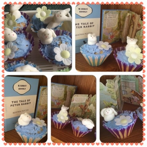 Happy Feaster Blog Tour, rabbit cupcakes #tastytales fondant rabbits and Fondant Bunnies