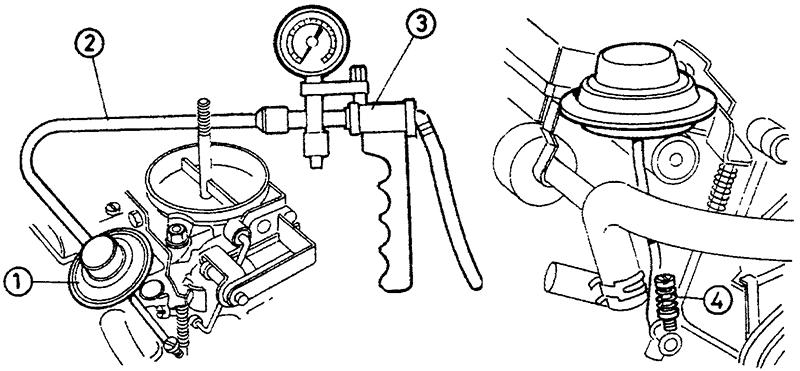 Регулировка диафрагмы системы стабилизации холостого хода - однопозиционная система