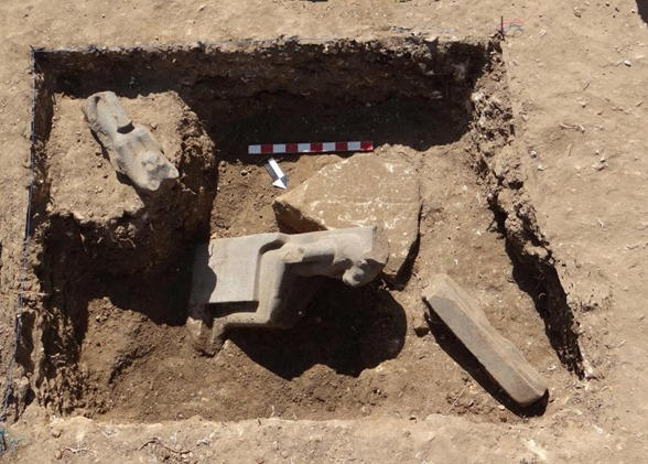 Os arqueólogos descobrem o antigo templo egípcio com dezenas de deusas de guerra chefiadas por leões 01