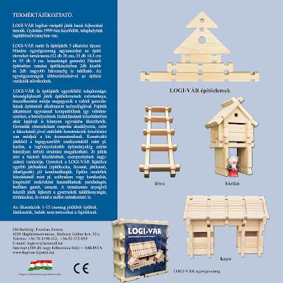 LOGI-VÁR fajáték 12 oldalas tájékoztató füzet, 2. oldal