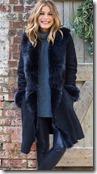 Celtic & Co Navy Toscana Trim Sheepskin Coat - other colours