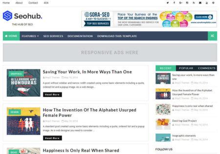 SeoHub Fast Loading Premium Blogger Template