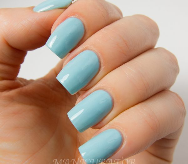 Light Blue Acrylic Nails Simple