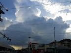 Die Schauerzelle vom Hauptbahnhof gesehen #Wetter #Wien